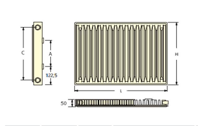 Радиатор отопления Roda 22 R (500х1100)