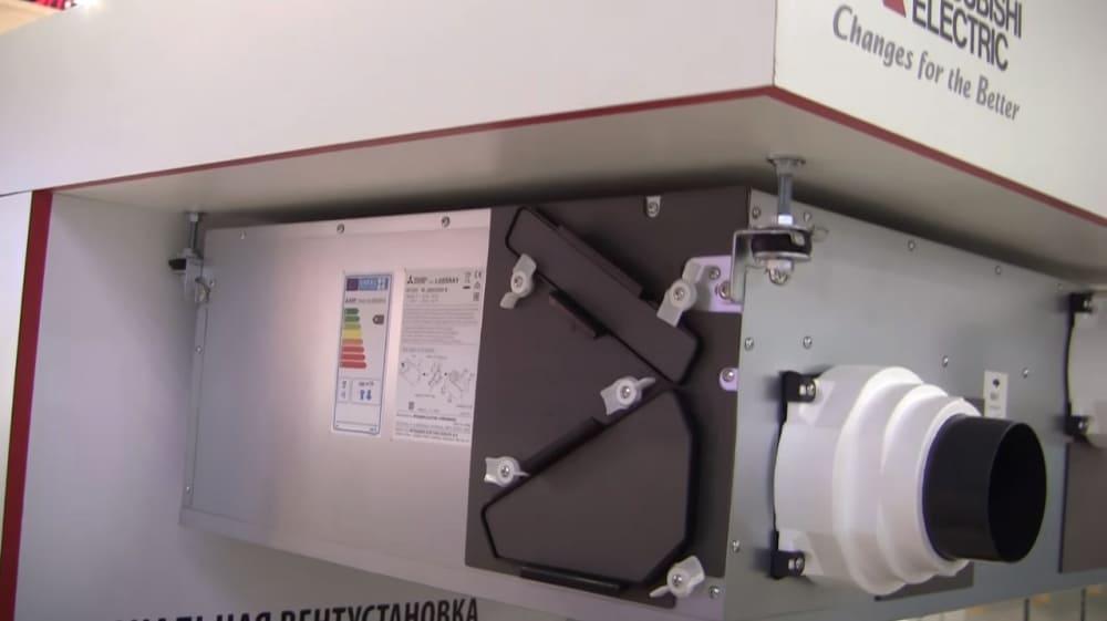 Канальная приточно-вытяжная установка Mitsubishi Electric lossnay LGH-150RX5-E